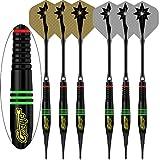 CyeeLife-6 Packs-18Grams Soft tip Darts Set professional-60Tips-12Alu shafts(48&35mm)-12Flights