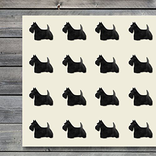 Scottish Terrier Scottish-Terrier Animal Pet Dog Canine Craft Stickers, 44 Stickers at 1.5 inches, Great Shapes for Scrapbook, Party, Seals, DIY Projects, Item 251382