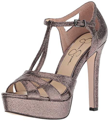 Jessica Simpson Women's Bryanne, Titanium, 5.5 Medium US (Platforms Leather Jessica)