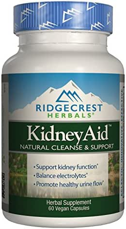 RidgeCrest Kidneyaid, Herbal Cleanse and Support Capsules, 60-Count