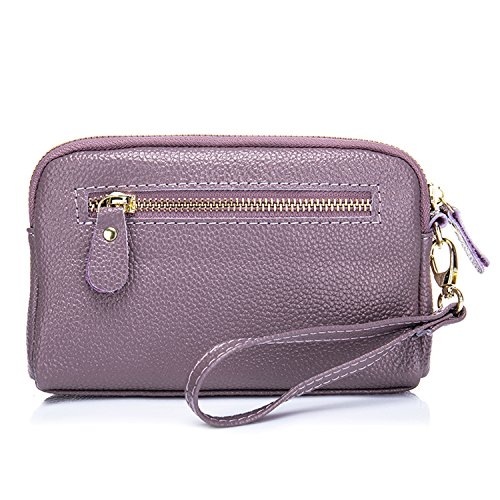 Genuine Women��s Purple Coin Handbag Leather Purse Bag Light Cowhide Clutch SEALINF Cellphone qg5Tw5