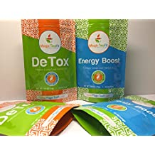 Organic DeTox and Energy Boost Teatox (Combo Pack)- TOP Quality, Tasty, Unique Blend of 22 Herbs, All Natural, Weight loss, Body Cleanse and Appetite Control Tea 28 day from Magic Teafit