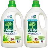 L'Arbre Vert Soin du Linge Assouplissant Hypoallergénique et Ecologique Souffle de Pureté 80 Lavages 1,5 L - Lot de 2