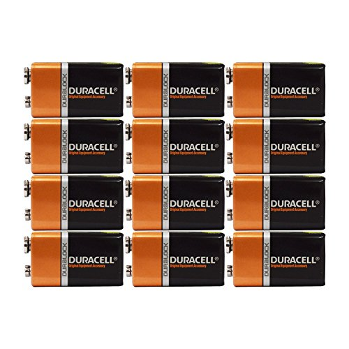 Duracell Coppertop 9v Batteries - Duracell Alkaline Batteries Coppertop, 9 V, 12 Piece