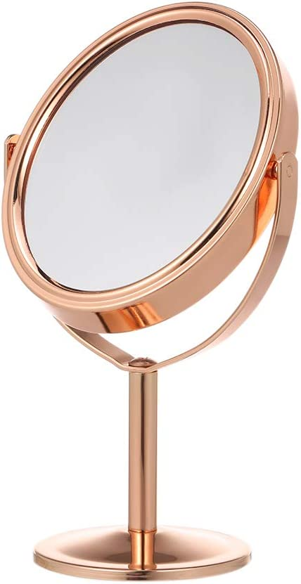 Anself Espejo de Maquillaje de Mesa de Doble Cara 1 X y 2 X Lupa ...