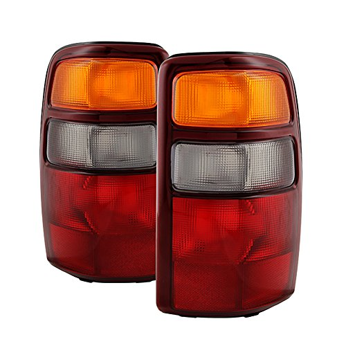 VIPMotoZ 2000-2006 Chevrolet Tahoe Suburban GMC Yukon XL 1500 2500 Tail Lights - [Factory Style] - Rosso Red Housing, Driver and Passenger Side Chevy Chevrolet Suburban Parking Light