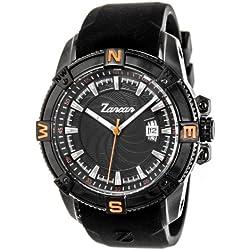 Zancan HWT014 All Black Stainless Steel w/ Rubber Strap Men's Watch