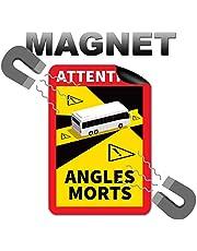 3 st. Uppmärksamhet Angles Morts magnetskyltar 25 x 17 cm magnet för buss och husvagnar varningsskylt Frankrike med UV-skydd