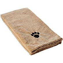 """Kole Ultra-Absorbent Pet Bath Towel for Small, Medium, Large Dogs and Cats, Machine Washable 44"""" x 28"""" Inch."""