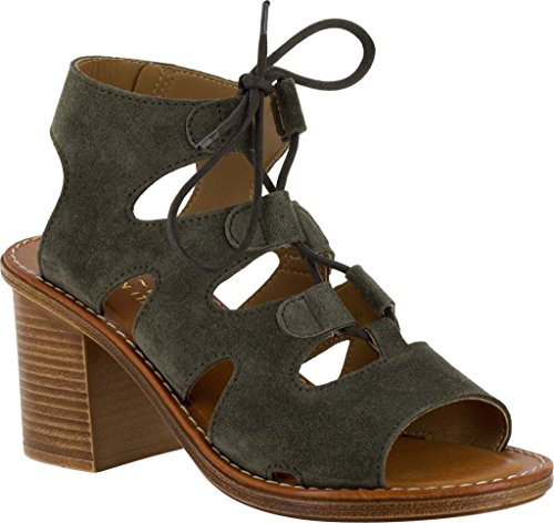 Bella Vita Womens Bre-Italy Olive Suede/Leather