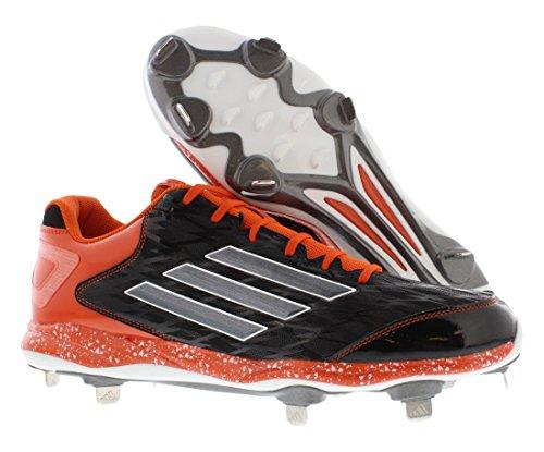 Adidas Poweralley To Svart / Carbon Metallisk / Collegiate Orange