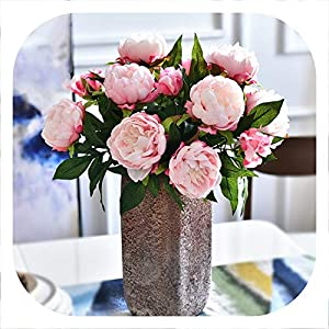 Memoirs- Artificial Flowers Peony 3 Heads Silk Peony Flowers Branch for Home Wedding Party Decoration Fake Flowers 97