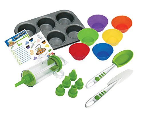 - Curious Chef TCC50165 16-Piece Cupcake and Decorating Kit, Child, Multicolored