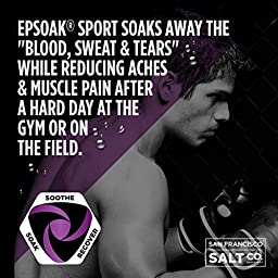 Epsoak SPORT Epsom Salt for Athletes - SOOTHING. All-natural, therapeutic soak with Lavender Essential Oil (5lb Bulk Bag)