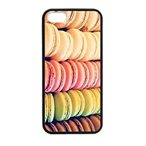Cake Macaron Case for iPhone 5 5s protective Durable black case