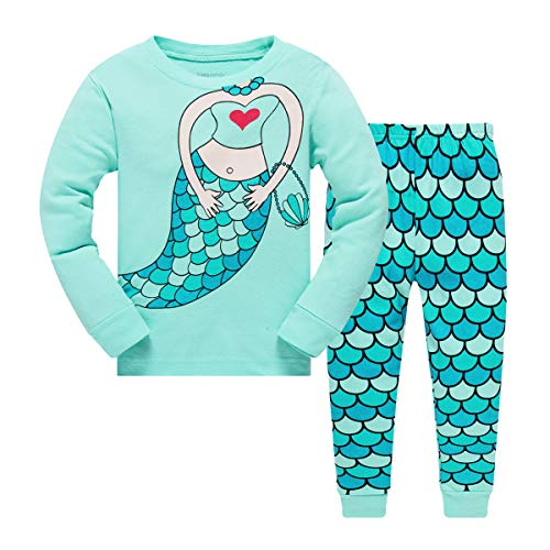 Little Girls Mermaid Pajamas Set Childre...