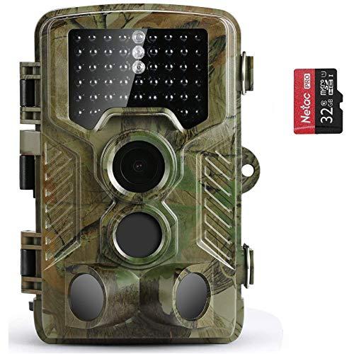 COOLIFE 21MP 1080P HD Caméra de Chasse Caméra de Surveillance Étanche 49 LEDs Grand Angle 125 ° De Vision Nocturne 25m… 1
