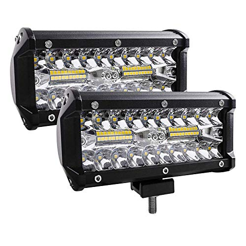 Led Light Bar, 2Pcs 240W 24000lm [ Aluminum Alloy Die-casting Shell ] Led Spotlight Off Road Lights Super Bright Flood Driving Light for SUV Jeep Boat (240 - Plastic Driving Lights Housing