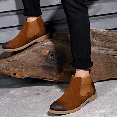 Classic Chelsea Scamosciata Da In Top Stivali Uomo Stivaletti Oxblood Pelle Safety Boots Business Brown Brogue rRqw0Arx