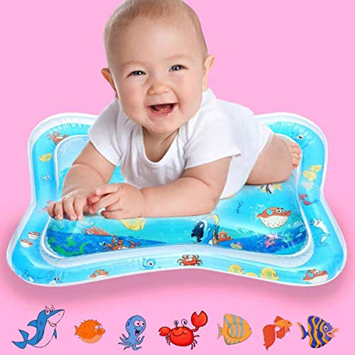 YOMOZONE Tummy Time Mat Baby Toy Water Play Mat, Infant Toy Inflatable Play Mat Toddlers Fun Play Activity Center, Perfect Leakproof BPA Free Floating Toys for 3 6 9 Months ()