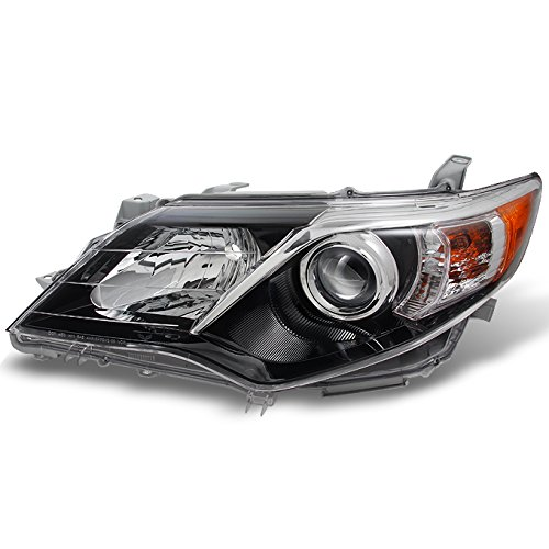 Black Bezel Left Driver - For Toyota Camry SE Model Black Bezel Projector Headlight Front Lamp Driver Left Side Replacement