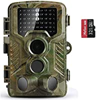 COOLIFE 21MP 1080P HD Caméra de Chasse Caméra de Surveillance Étanche 49 LEDs Grand Angle 125 ° De Vision Nocturne 25m...