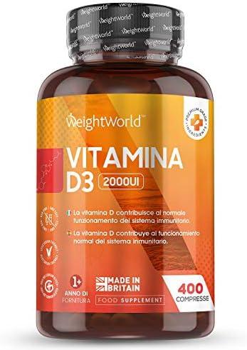 Vitamina D3 2000 UI 400 Comprimidos –