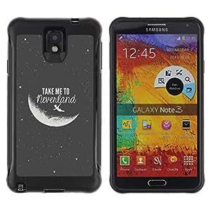 "Pulsar iFace Series Tpu silicona Carcasa Funda Case para SAMSUNG Galaxy Note 3 III / N9000 / N9005 , Take Me To The Moon Gris Negro Noche Cosmos"""