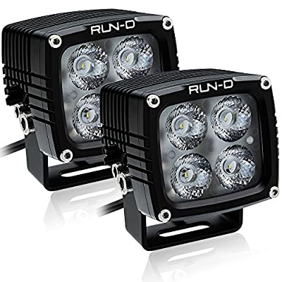 RUN-D 2X 40W CREE LED Driving Lights 3150lm 3'' Cube Pods for Jeep JK 4x4 Off Road ATV UTV Truck Work Lamp