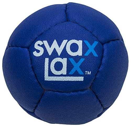Swax Lax Lacrosse Training Ball (Blue) - Same Size and Weight as Regulation Lacrosse Ball but Soft - No Rebounds, Less Bounce Practice Ball