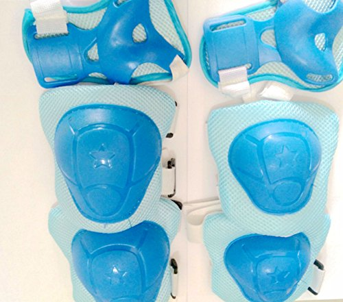 Skateboard Plastic Skate (Blue) With Protective Pads for Cycling 6-piece Set (Blue) - 2