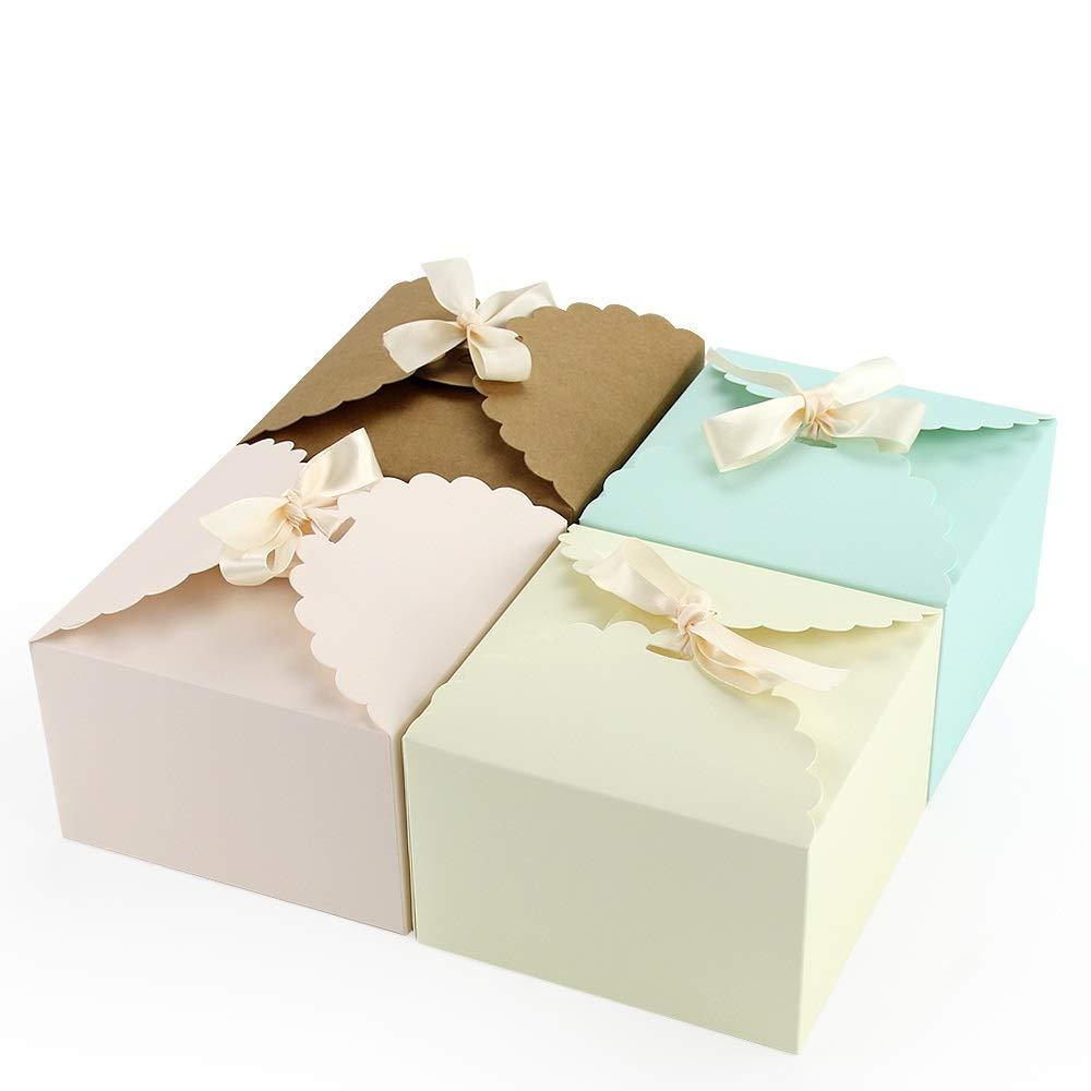 Blumen VEESUN Geschenkbox 16 STK Bunt K/ästchen Geschenkschachtel in 4 Farbe MEHRWEG Pralinenschachtel Geschenkverpackung /Überraschungsboxen f/ür Kuchen Kekse Kindergeburtstag Gastgeschenke T/üten