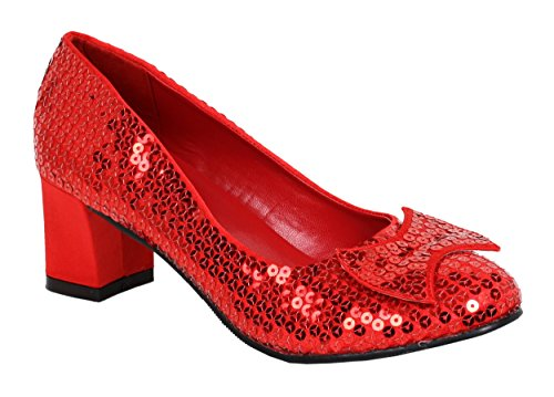 Red Sequin Judy Shoes (Funtasma by Pleaser Women's Dorothy-01 Pump,Red Sequins,8 M)
