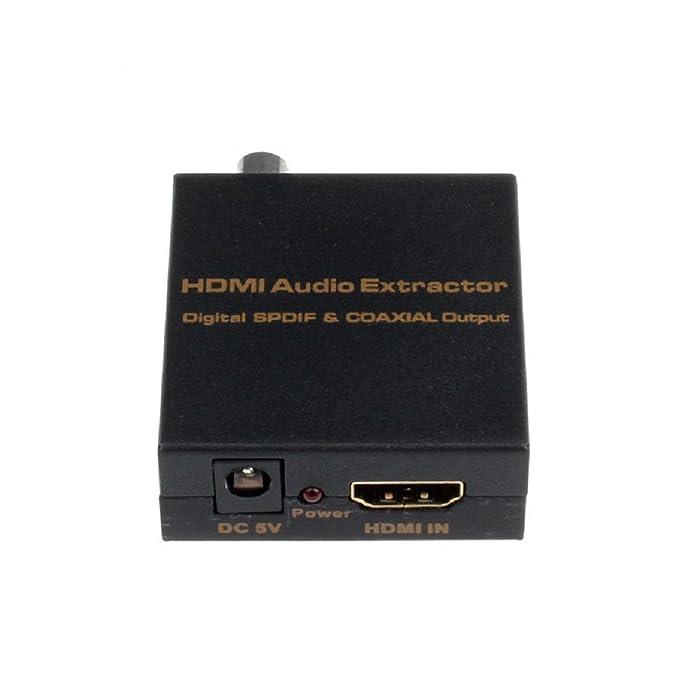 Sannysis® HDMI a digital óptico SPDIF coaxial de audio extractor convertidor divisor: Amazon.es: Electrónica