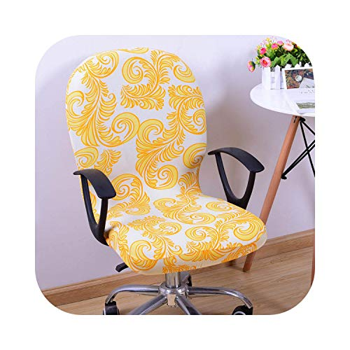 Fenyoung Swivel Chair Cover Stretchable Removable Computer Office Washable Rotating Lift Fping-5-Other