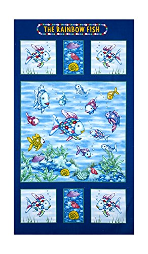 Marcus Brothers The Rainbow Fish Glitter 24in Panel Multi Fabric