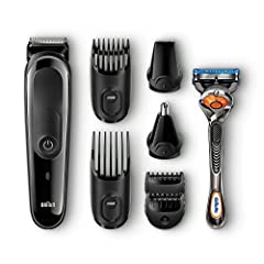 The Braun Multi Grooming Kit offers the ultimate in precision trimming for face and head. Thanks to its clever attachments, perform 8 different jobs effortlessly and stay in control of your style with ultimate precision. Adjusts voltage autom...