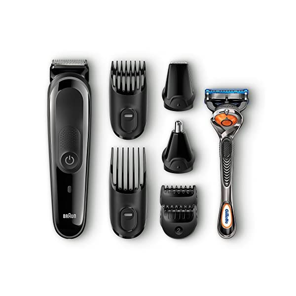 Braun MGK3060 8-in-1 All-in-One Beard Trimmer for Men, Cordless Hair Clipper, Black