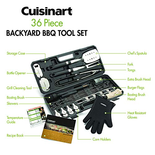 Cuisinart CGS-8036 Backyard BBQ Tool Set, 36-Piece
