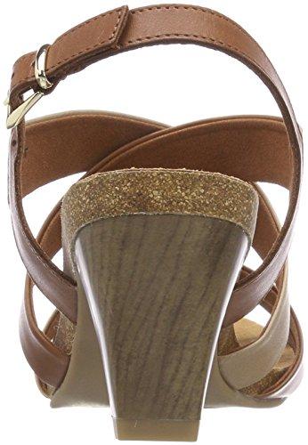 Sand Bride Caprice 346 Sandales arrière 28310 Femme Multicolore Nut Camel qxvx18w