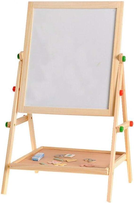 XGHW Pizarra para niños, Tablero de Escritura Ajustable de Doble Cara de Madera con Tablero magnético: Amazon.es: Hogar