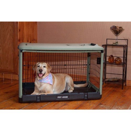 Pet Gear The Other Door Steel Crates Sage 27″ x 18″ x 21″ [Misc.]