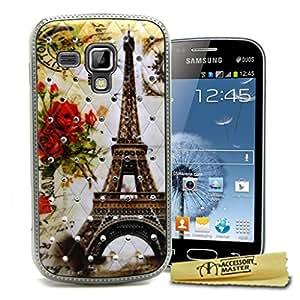 Accessory Master diseño de libro de cuero para Samsung Galaxy Duos S7562 marrón