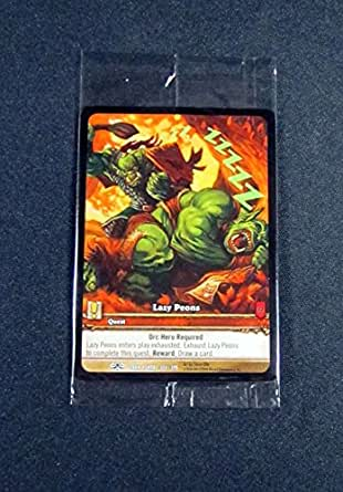 Amazon Com 1 World Of Warcraft Wow Tcg Lazy Peons Dark Portal Promo Extended Art Common Collectibles Fine Art