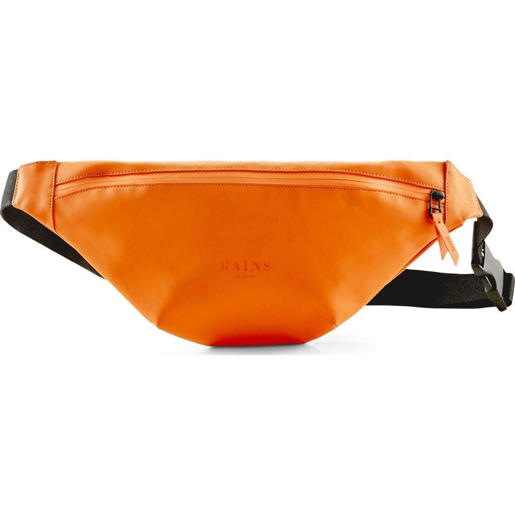 RAINS Waterproof Bum Cross Bag | Matte - Fire Orange