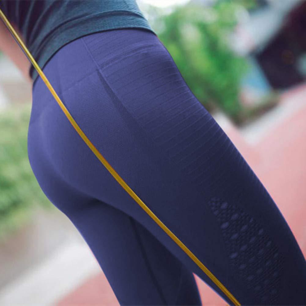 bleu X-petit NSYJKPantalon de yogacreux sur Le Sport jambières Femmes élargir Taille Haute contrôle Ventre Fitness Gym Leggings Stretch Compression Pantalon de Yoga Squat