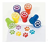 12 Birthday EVERYDAY Party Favors Mini PAW PRINT STAMPERS Stamps