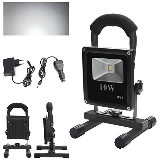 wolketon LED 10W Blanco frío Recargable Foco Proyector: Amazon.es ...