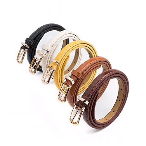 skinny belt leather - 5