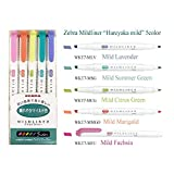 Zebra Mildliner highlighter pen set, 25 Pastel